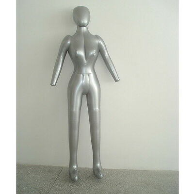 New Woman Whole Body With Arm Inflatable Mannequin Fashion Dummy Torso Model JW