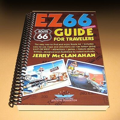EZ ROUTE 66 GUIDE for TRAVELERS NEW 4th Edition map book