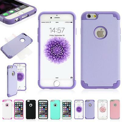 Shockproof Rugged Hybrid Rubber TPU Cover Case for iPhone 6 7 Samsung S7 S7 edge