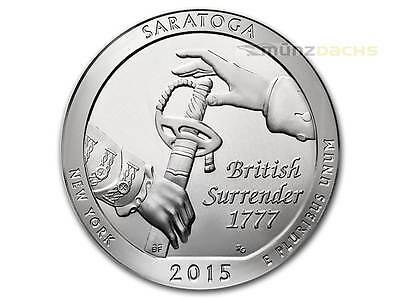 America the Beautiful ATB Saratoga National Park New York USA 5 oz Silber 2015