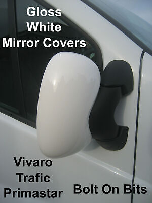 White Mirror Covers Renault Trafic 1.9 /& 2.5 dCi 80 100 115 135 145 2001 to 2014
