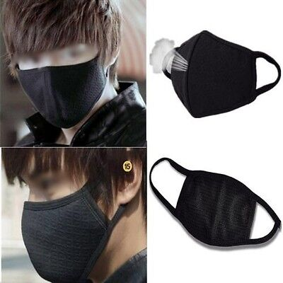 2Pcs Black Health Cycling Anti-Dust Cotton Mouth Face Respirator Unisex Mask  UK