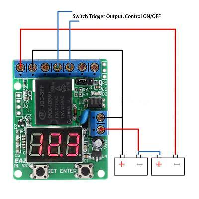 Voltage Detection Charging Discharge Monitor Switch Control Module DC 12V Relay