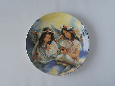 Fairy Girls Collectors Plate By Regency Fine Arts With Stand - New & Boxed
