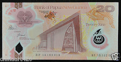 PAPUA NEW GUINEA Polymer Banknote 20 Kina 2015 UNC