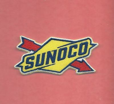 New 1 5/8 X 3 1/8 Inch Sunoco Gasoline Iron On Patch Free Shipping