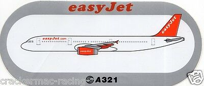 Airbus A321 Easyjet Airline Sticker ~Rare~