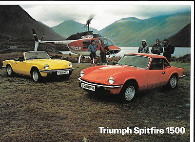 Triumph Spitfire 1500 Sales Brochure December 1978 For 1979 Model Year