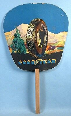 1940 or Earlier Goodyear Tires Advertising Fan Automobile Store Premium Giveaway
