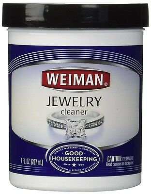Weiman Jewelry Cleaner with Brush 7-Ounce
