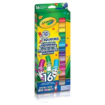 16PC Crayola Pip Squeaks Washable Large Size Non Toxic Unique & Bright Markers