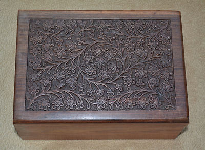Carved Rosewood Urn- Large Box