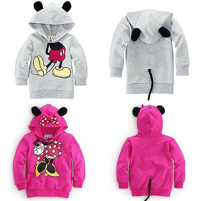 Baby Girl Boy 3D Mickey Mouse Outfits Tops Hoodie Sweatshirt Pullover Clothing