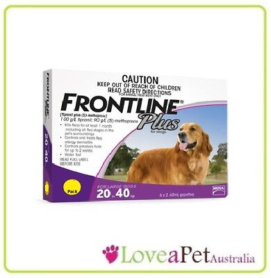Frontline Plus flea/tick treatment For LARGE Dogs 20.40KG SELECT QTY REQUIRED