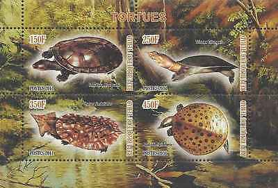 Timbres Reptiles Tortues Tchad ** année 2011 lot 9473