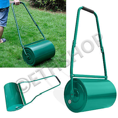 30L Water Heavy Duty Metal Sand Filled Garden Perfect Grass / Lawn Roller New