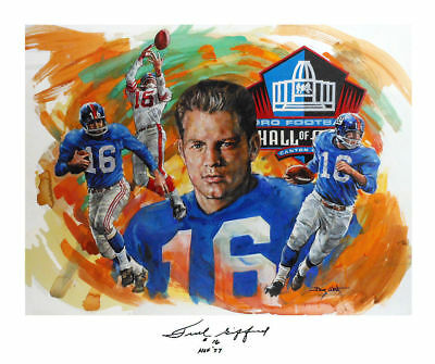 Clock Is Ticking SALE! FRANK GIFFORD Autographed Lithographs • FREE SHIPPING