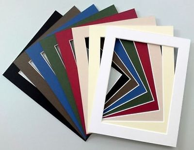 """10x8""""/8x10"""" Cardboard Photo/Picture MOUNTS - Choice of colours & cut out sizes"""