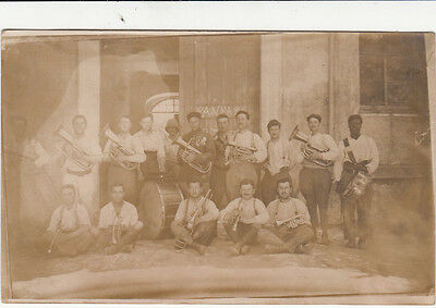CPA TURQUIE TURKEY CONSTANTINOPLE ISTANBUL photo-carte fanfare 12° 1923