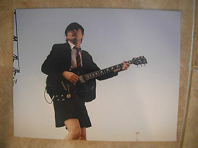 Angus Young AC/DC Guitar Live Music Color 11x14 Promo Photo #2