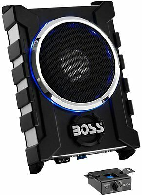 "New Boss BASS1300.3 8"" 1300W Low Profile Amplified Car Subwoofer w/Remote"