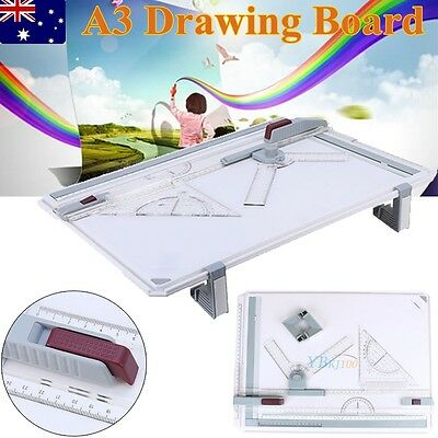 Hot A3 Drawing Board Table With Parallel Motion&Adjustable Angle Office AU Stock