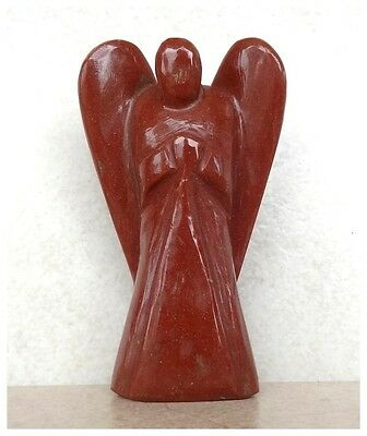 "Natural Red Jasper Crystal Gemstone Carved 3 "" Angel 64 Grams"