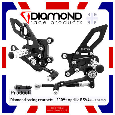 Diamond Race Products Aprilia Rsv4 Rsv4Rf 2009-2016 09-16  Rearset Footrest Kit