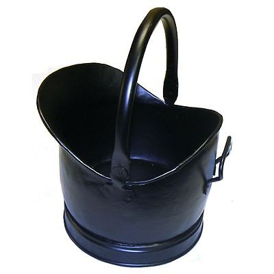 Cromwell Black Coal Bucket Hod Scuttle Fireplace Inc FREE Postage