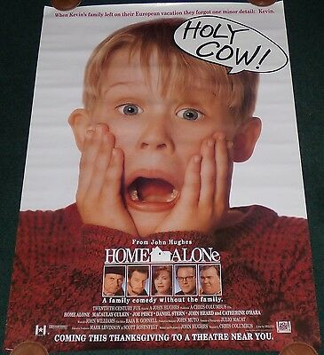 Home Alone 1990 Original Rolled Ds Advance 1 Sheet Movie Poster + Advance Ticket