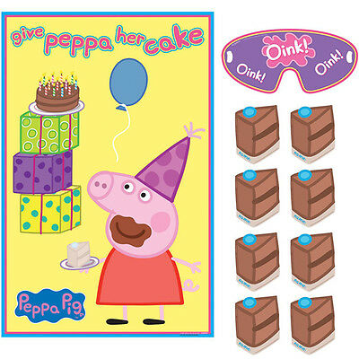 NEW Peppa Pig Birthday Party Game for 2-8 Players Party Supplies Decorations~