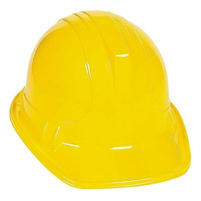 12X Construction Worker Builder Party  Childs Yellow Plastic Hat