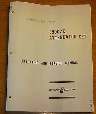 Operating and Service  Manual f. HP Attenuator Set 350C/D