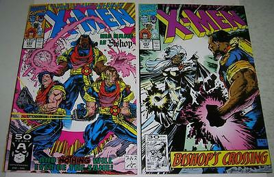 UNCANNY X-MEN 282 & 283 (Marvel Comics 1991) 1st appearance of BISHOP (VF)