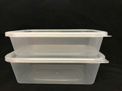 * Food Safe Clear Plastic Takeaway Containers with Lids 500cc 650cc 1000cc