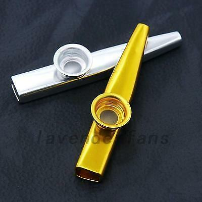 New Metal Kazoo Harmonica Mouth Flute Kids Party Gift Kid Musical Instrument