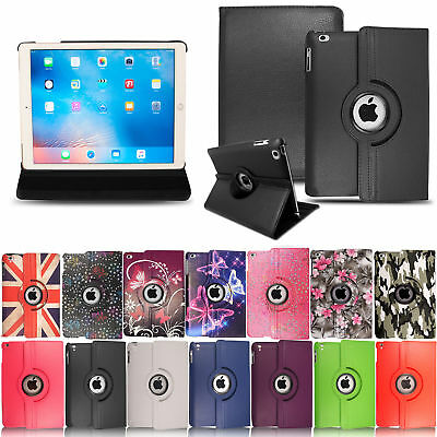Pu Leather 360 Degree Rotating Smart Stand Case Cover For APPLE iPad 2 3 4 mini