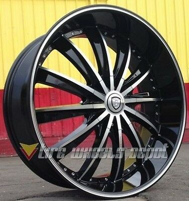 24 Inch B19 Rims And Tires Town Car Rangerover Charger Challenger Bmw 745