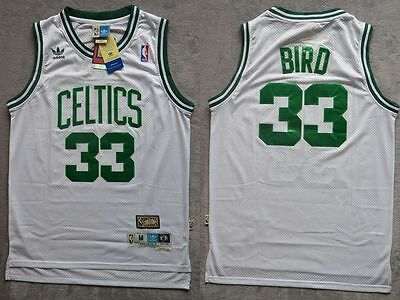 NBA Larry Bird #33 Boston Celtics RETRO white Basketball jersey - size S/M/L