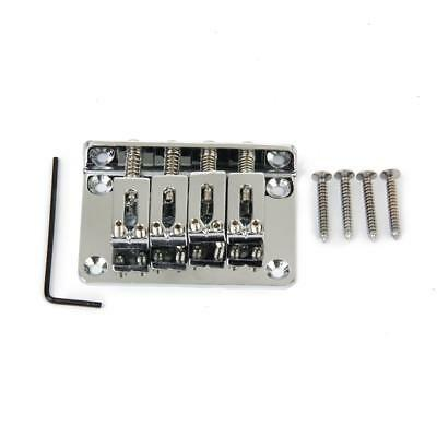 Chrome Plated 4 String Bridge For Cigar Box Guitar Electric Ukulele Tenor Bass
