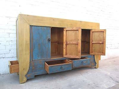china Sideboard Kommode azurblau helle Pinie two tone optic