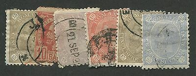 Romania #99/106 Used 6 Stamps