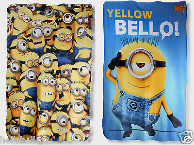 Minions Children Fleece Picnic/blanket/throw 150X100 2 Different Designs