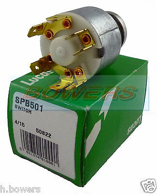 Genuine Lucas 31912 Spb501 47Sa Classic Ignition Switch Mg Midget Mgb Triumph Tr