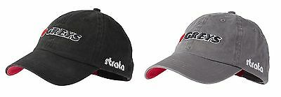 Greys Strata Fin 3D Logo Baseball Cap Fishing Grey/Black One Size Hat