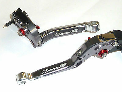 Bmw S1000R 2014-2016 Brake & Clutch Lever Set Extendable Folding Engraved  Ts116