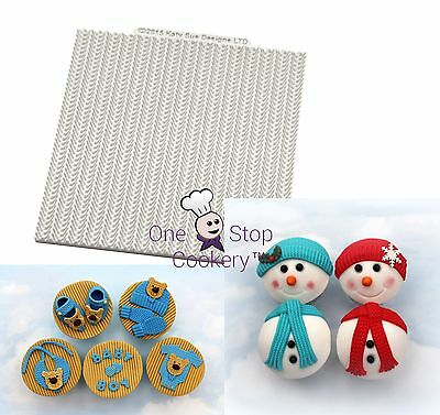 Katy Sue Designs Mat CABLE KNIT Pattern Food Grade Silicone Mould £8.89 FREE P&P