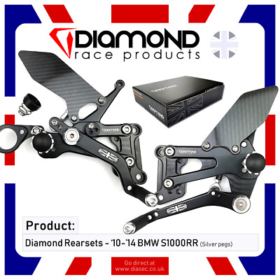 Bmw S1000Rr & R - 2010-2014 10-14 Rearset Footrest Kit - Diamond Race Products