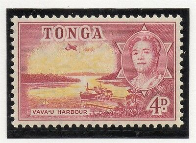 Tonga 1953 Early Issue Fine Mint Hinged 4d. 039023