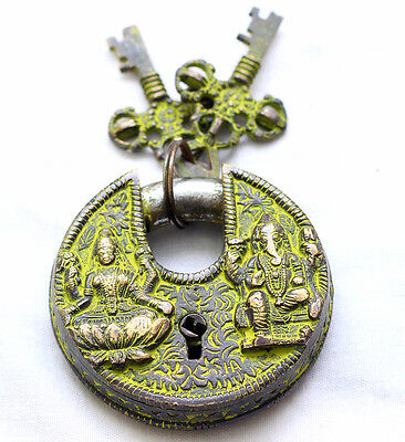 Hindu God Antique Door Lock